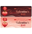 Happy Valentines day banner set red ornament vector image vector image