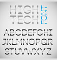 high tech font vector image