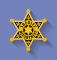 Icon of Police Sheriff badge Flat style vector image vector image