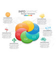 infographic template design with 6 color options vector image vector image