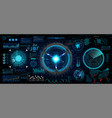 innovation system hud ui elements collection vector image vector image