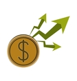 Isolated increase and money design vector image vector image