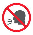 keep silence glyph icon prohibition and forbidden vector image vector image