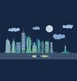 landscape of skyscrapers of night new york vector image vector image