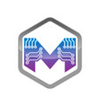 m letter logo m letter logo design vector image vector image