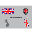 Map of United Kingdom and symbol vector image vector image