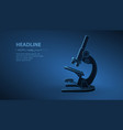 microscope abstract 3d professional school vector image vector image