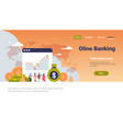 online banking money graph growth wealth concept vector image vector image