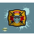 paintball logo emblem paintball guns and Wings vector image vector image