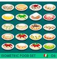 Pasta Set 06 Food Isometric vector image