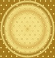Pattern With Mixed Small Spots On Golden Color vector image