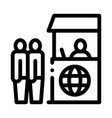 people on check control icon outline vector image vector image