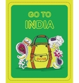poster for tourists on theme india vector image