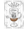 Poster latte vector image vector image