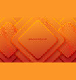 ractangle orange background with 3d style vector image vector image