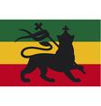 rastafarian flag with lion judah vector image vector image