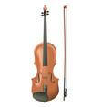 realistic wooden violin vector image vector image
