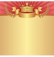 red and golden background with crown vector image