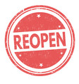 reopen sign or stamp vector image vector image