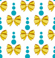 Seamless pattern cute cartoon bows-4 vector image vector image