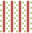Seamless pattern with christmas trees and vector image vector image