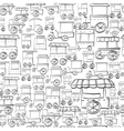 Seamless sketch pattern for street trade vector image vector image