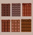set of craving delicious chocolate in a cartoon vector image