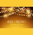 shine garland nerry christmas and happy new year vector image vector image