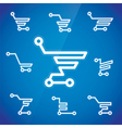Shopping Cart Symbols vector image vector image