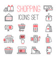 shopping retail business internet market outline vector image