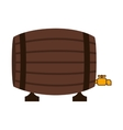 silhouette colorful with Liquor barrel vector image