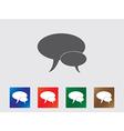 Speech bubbles icons vector image