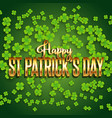 st patricks day background with shamrock and vector image vector image