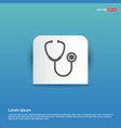 stethoscope icon - blue sticker button vector image vector image