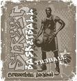 streetball basketball vector image vector image
