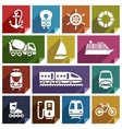 Transport flat icon-01 vector image