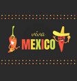 viva mexico banner template traditional mexican vector image vector image