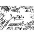healthy vegan food hand drawn background vector image