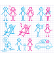 set of funny cartoon people vector image