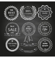 Set of hand drawn badges vector image