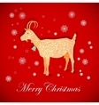 Christmas goat vector image