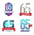 65 Years Anniversary Symbol vector image