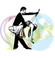 Abstract of Latino Dancing couple vector image
