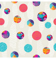 abstract polka dot colorful pattern background art vector image vector image