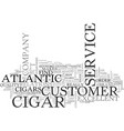 atlantic cigar text word cloud concept vector image vector image