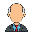 avatar old man icon vector image vector image