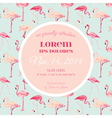 Baby Arrival or Shower Card - with Flamingo vector image vector image