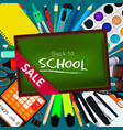 back to school background with vector image vector image