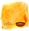 beautiful diwali background with diya and vector image vector image
