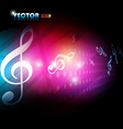beautiful music background vector image vector image